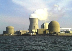 Salem and Hope Creek nuclear plants from across the Delaware River